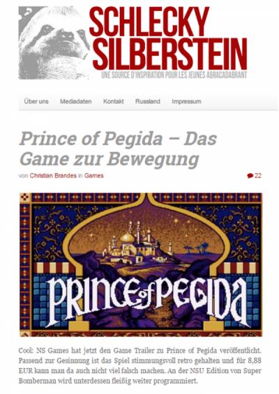 Prince of Pegida auf Schlecky Silberstein
